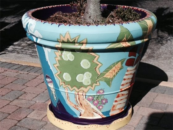 Downtown planters