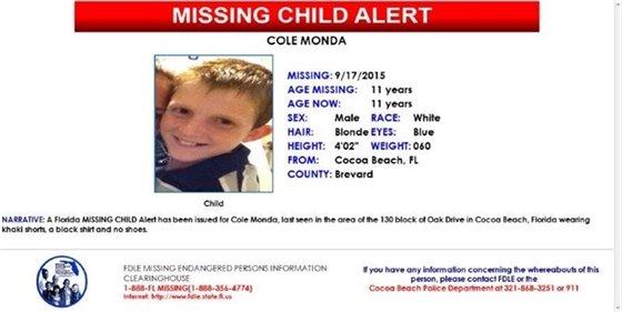 Missing child-Cole Monda