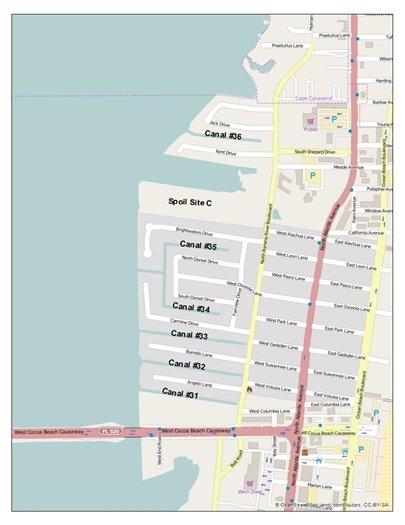 Dredge map