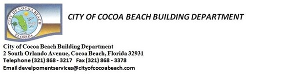 City of Cocoa Beach Building Department
