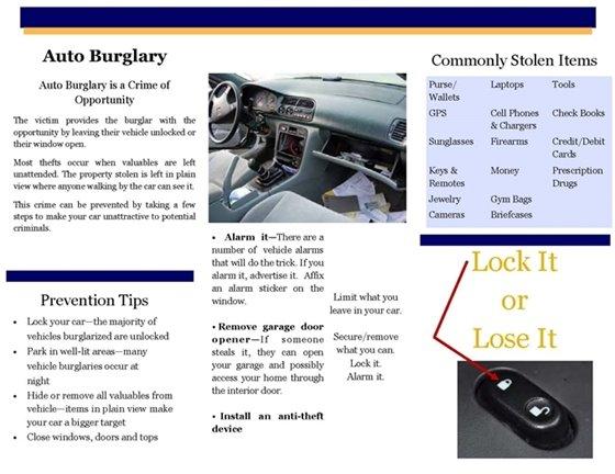 Burglary flyer