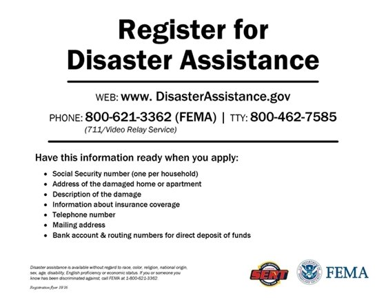 Register with FEMA