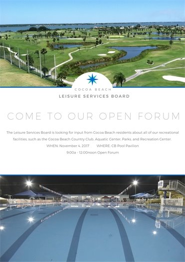 Leisure Services forum