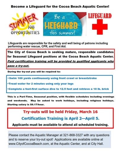Be a lifeguard