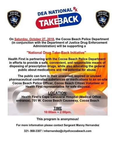 Take back prescription drugs