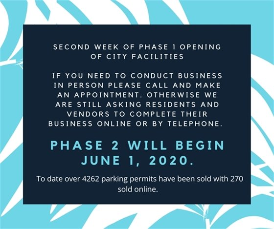 Phase 1 re-opening city