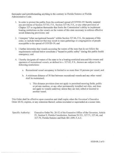 Executive Order 20-09 Page 2