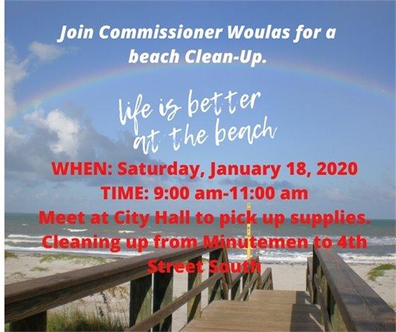 Beach clean up Jan 18 9-11am