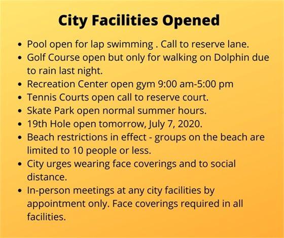 City Facilities update