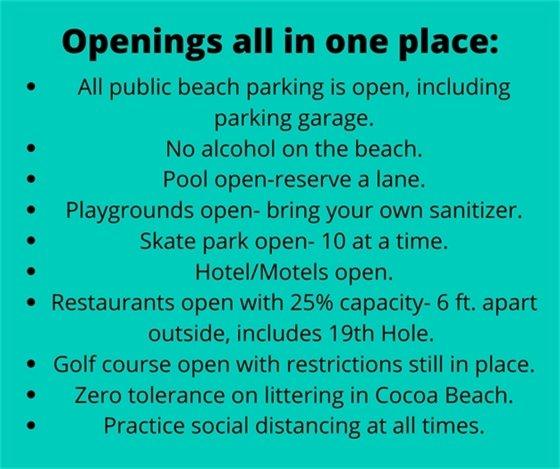 Openings guidelines