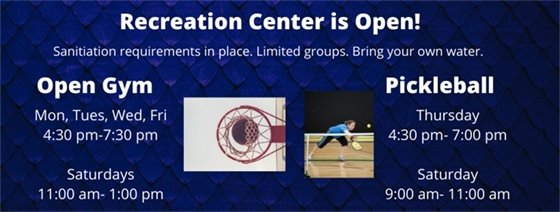 Rec Center open