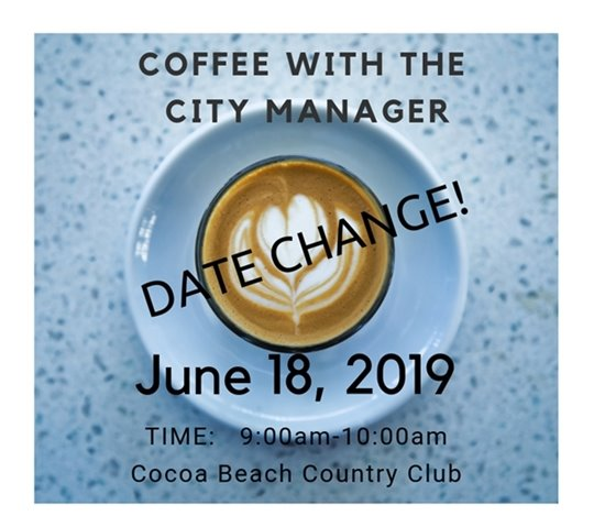 Date change for Coffee with the City Manager