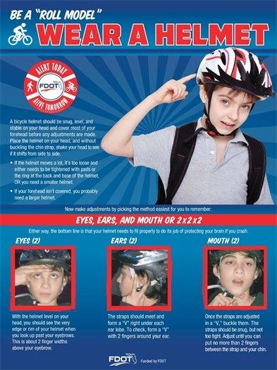wear a helmet on your bike