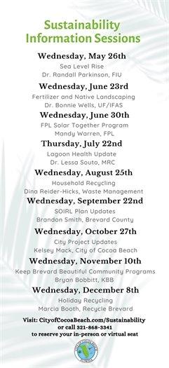 Sustainability schedule
