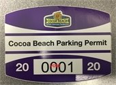 picture of parking pass voided