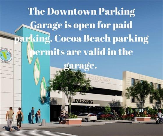Parking garage is open