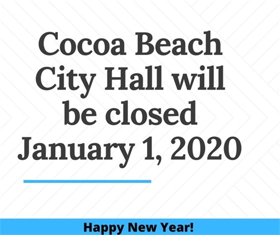 City hall closed Jan 1