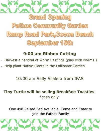 Grand Opening Pathos Community Garden
