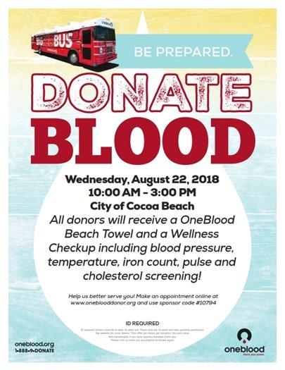 Donate blood!