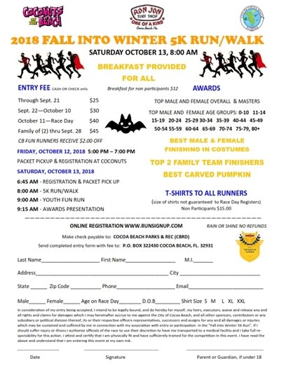 5k RACE REGISTRATION