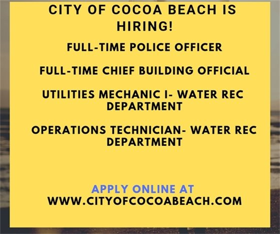 City of Cocoa Beach is hiring