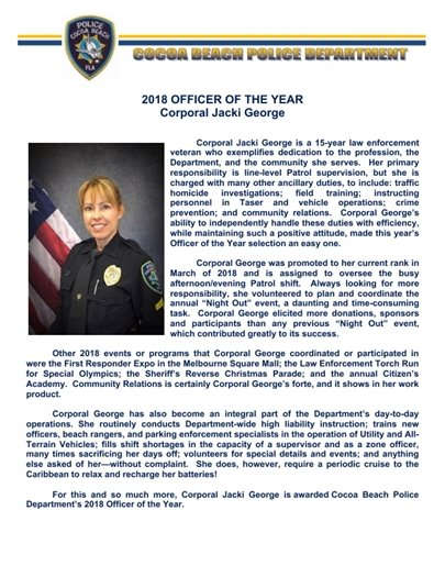 2018 Officer of the Year