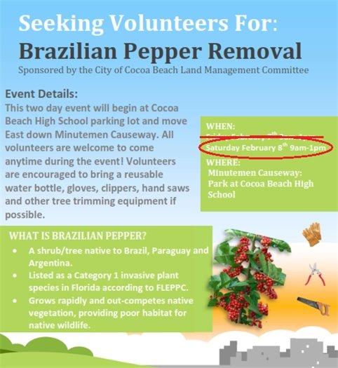 Flyer for pepper busting