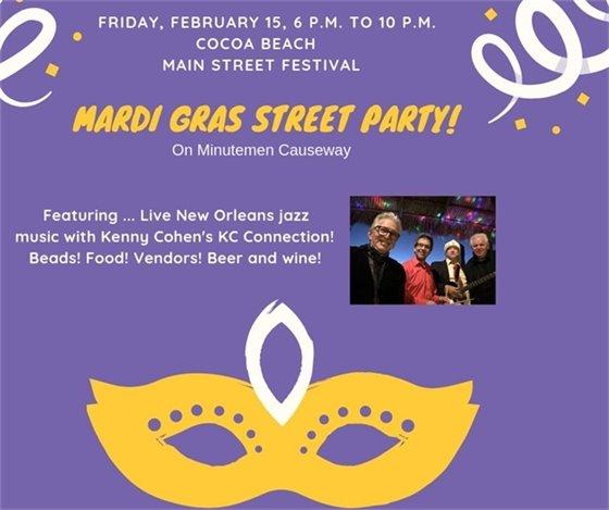 Mardi Gras Street party