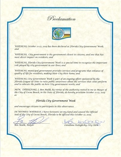 Government Week Proclamation