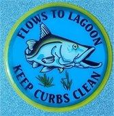 Flows To Lagoon. Keep Curbs Clean