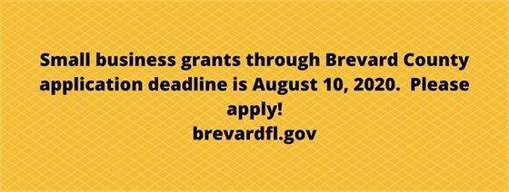 Small business grants deadline August 10, 2020