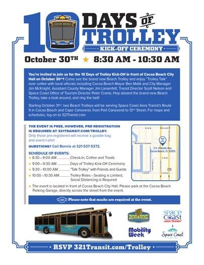 Beach Trolley  October 30 celebration
