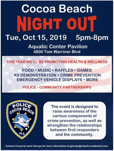 Cb Night out- Pool pavilion 5-8pm, food raffles, meet your cops