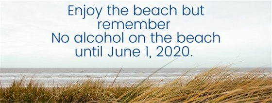 No alcohol on the beach