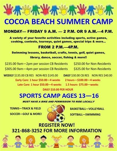 Summer camp announcement