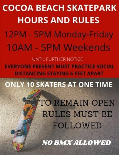Skatepark open