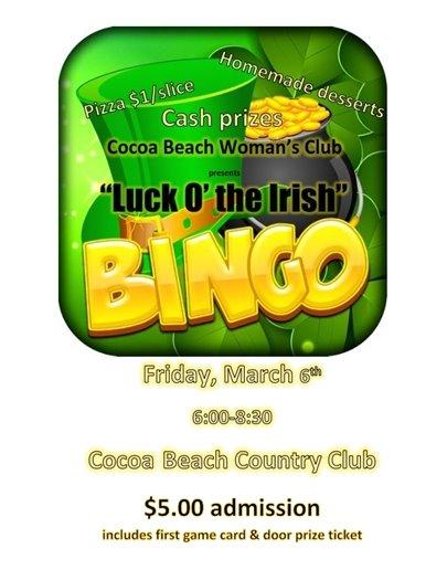 Bingo March 6 at CBCC