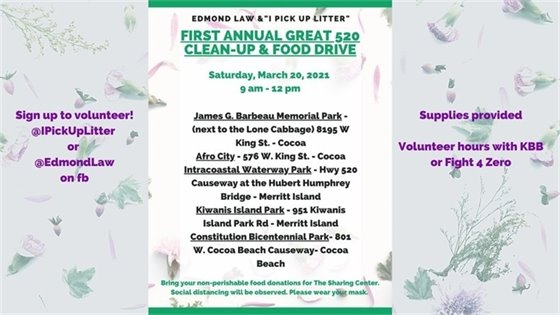 Clean up and food drive