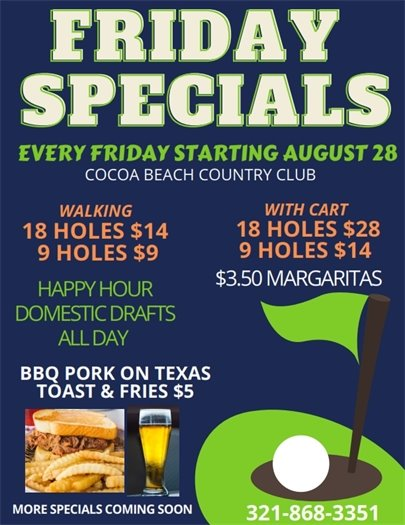 Golf Friday specials