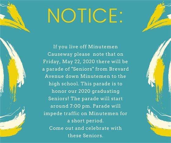 Parade notice