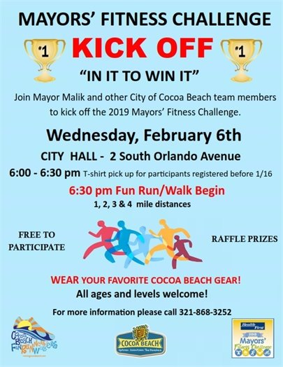 Mayors' Fitness Challenge Kick off