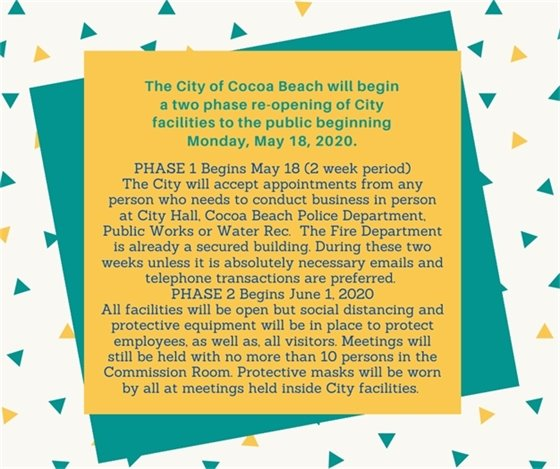 City buildings opening May 18 with restrictions