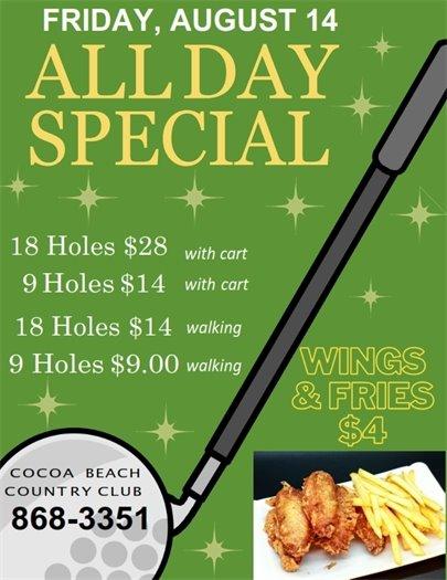Friday golf special