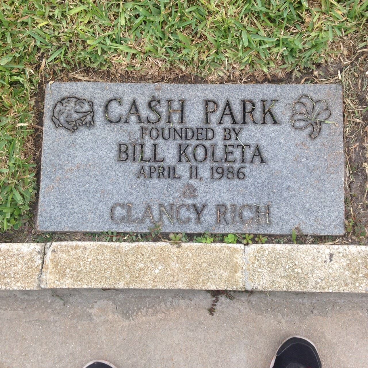 Cash Park Plaque