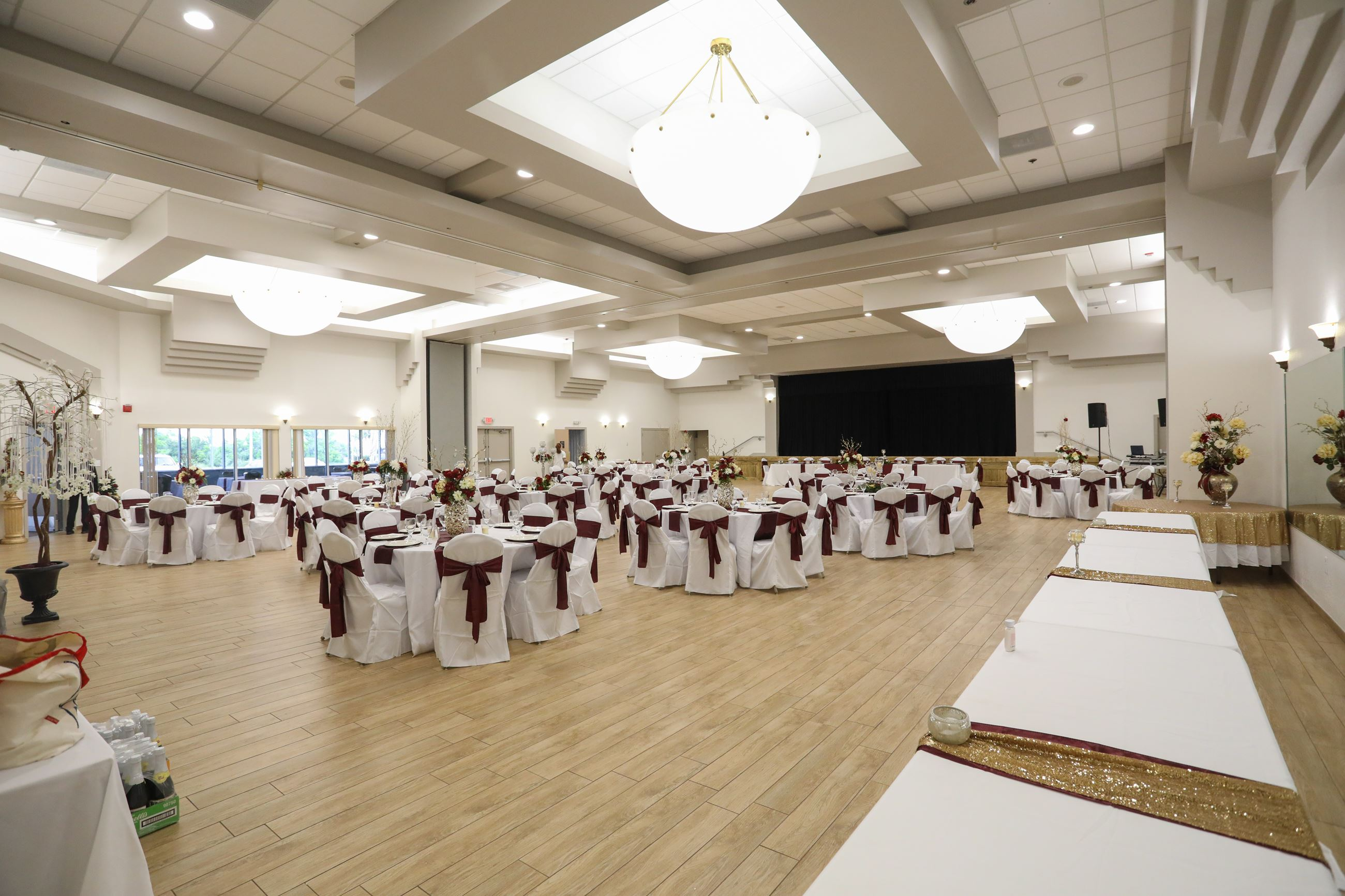 Banquet Facilities set up for event in December of 2018