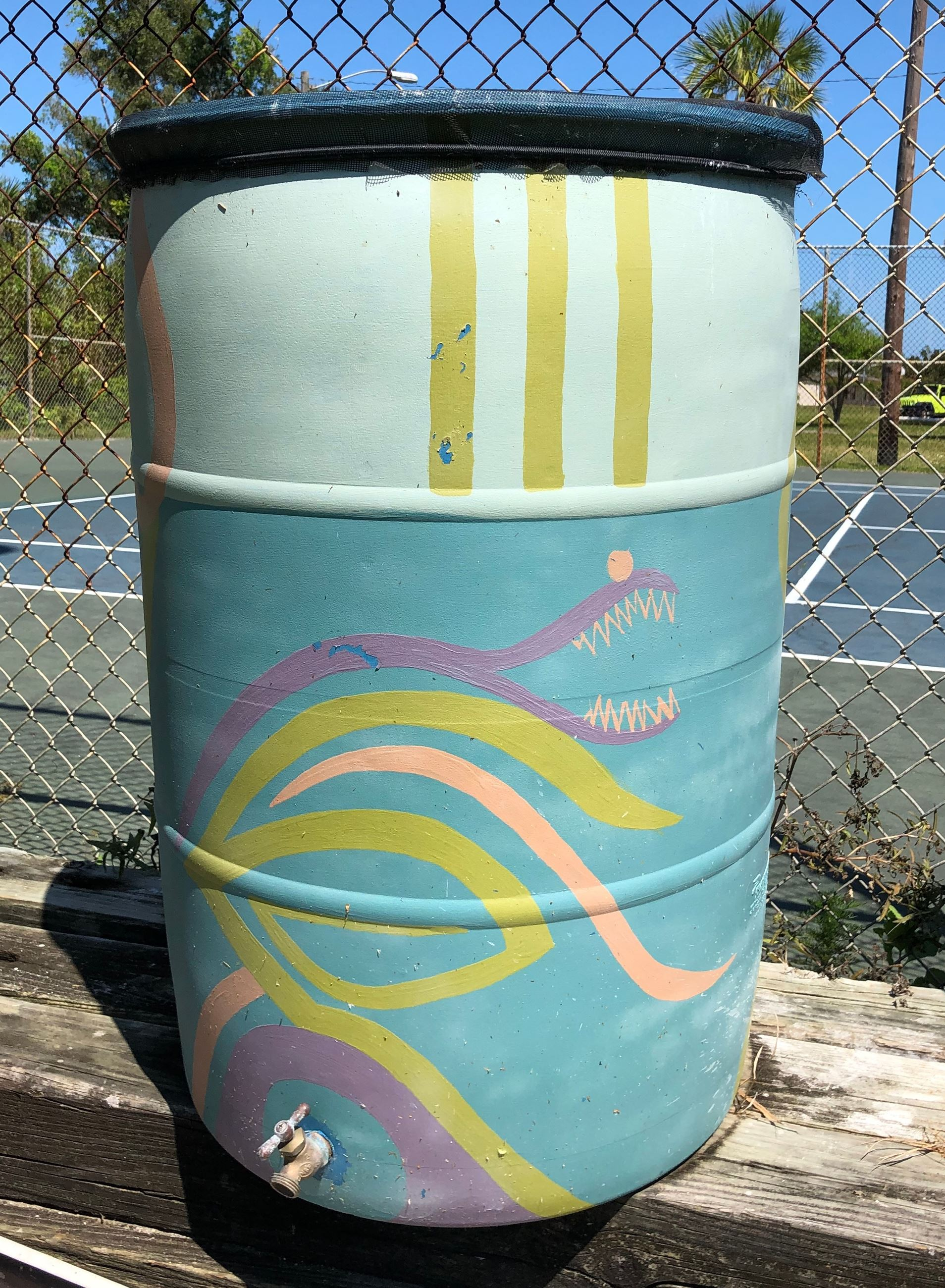 Photo of Rain Barrel at the community garden