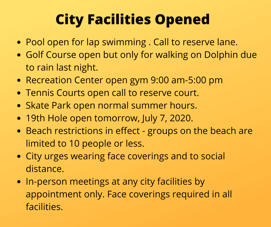 City Facilities Opened