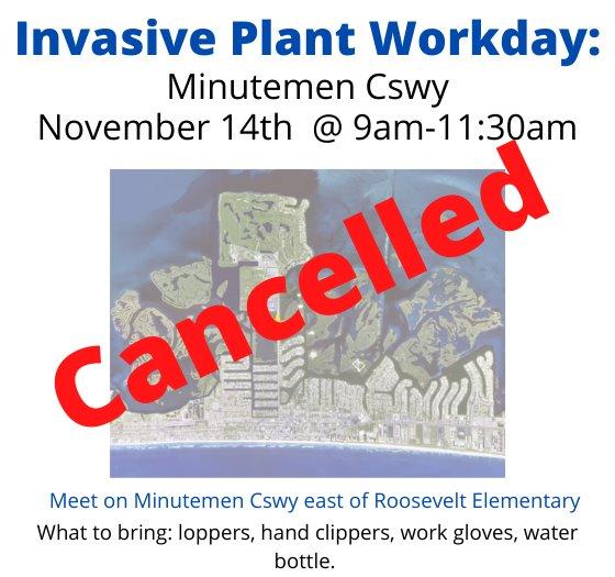 Minutemen Workday cancelled