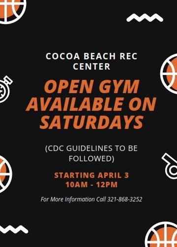 Open Gym on Saturdays