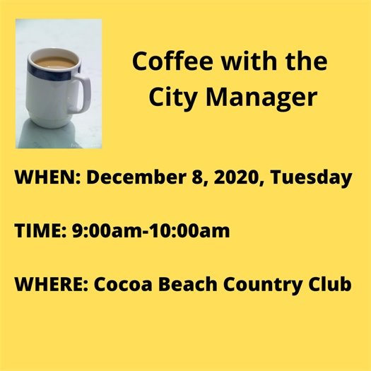 Coffee with the CM Dec.8 at CBCC